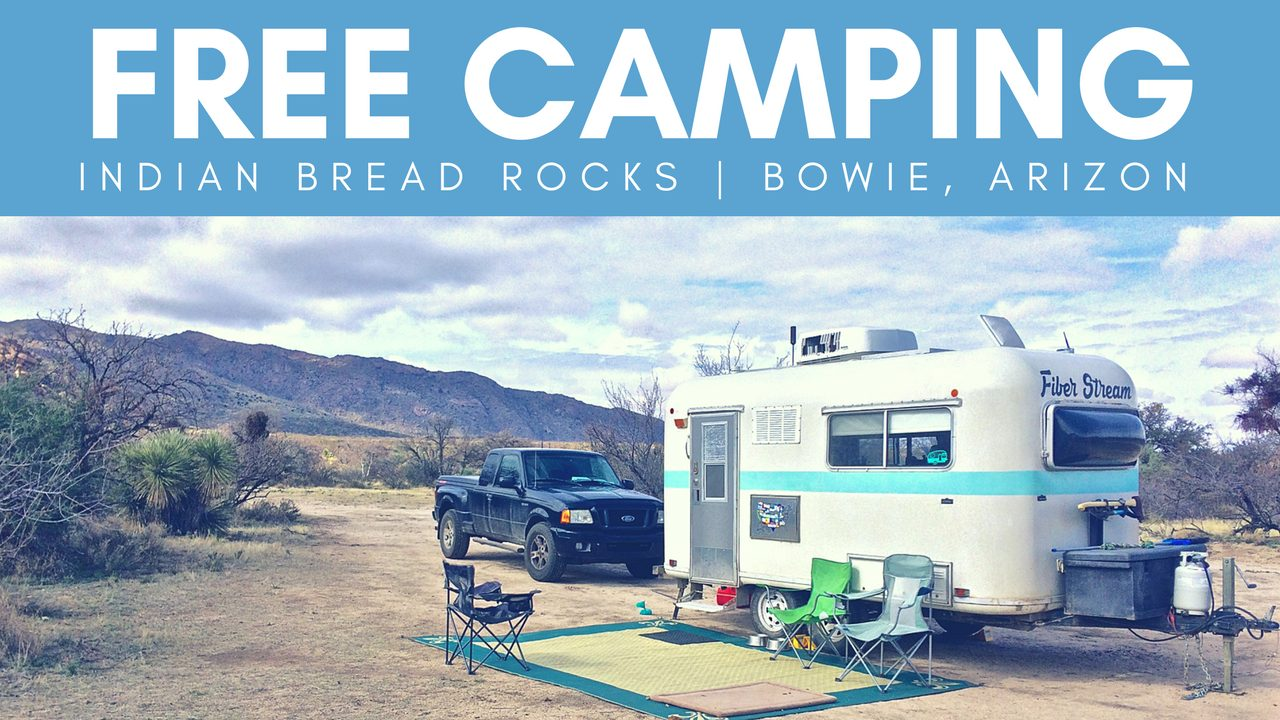 Free Camping at Indian Bread Rocks in Bowie, Arizona