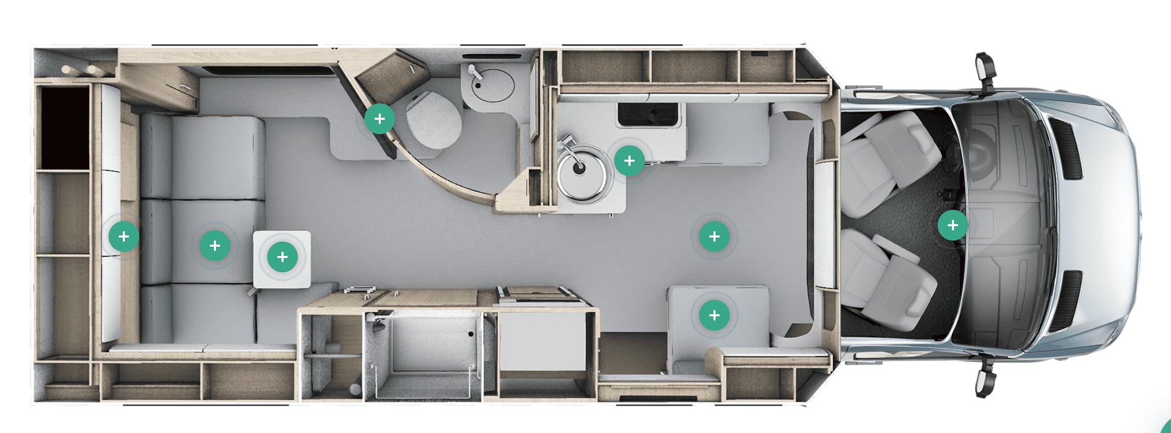 Leisure Travel Van Unity Floor Plan