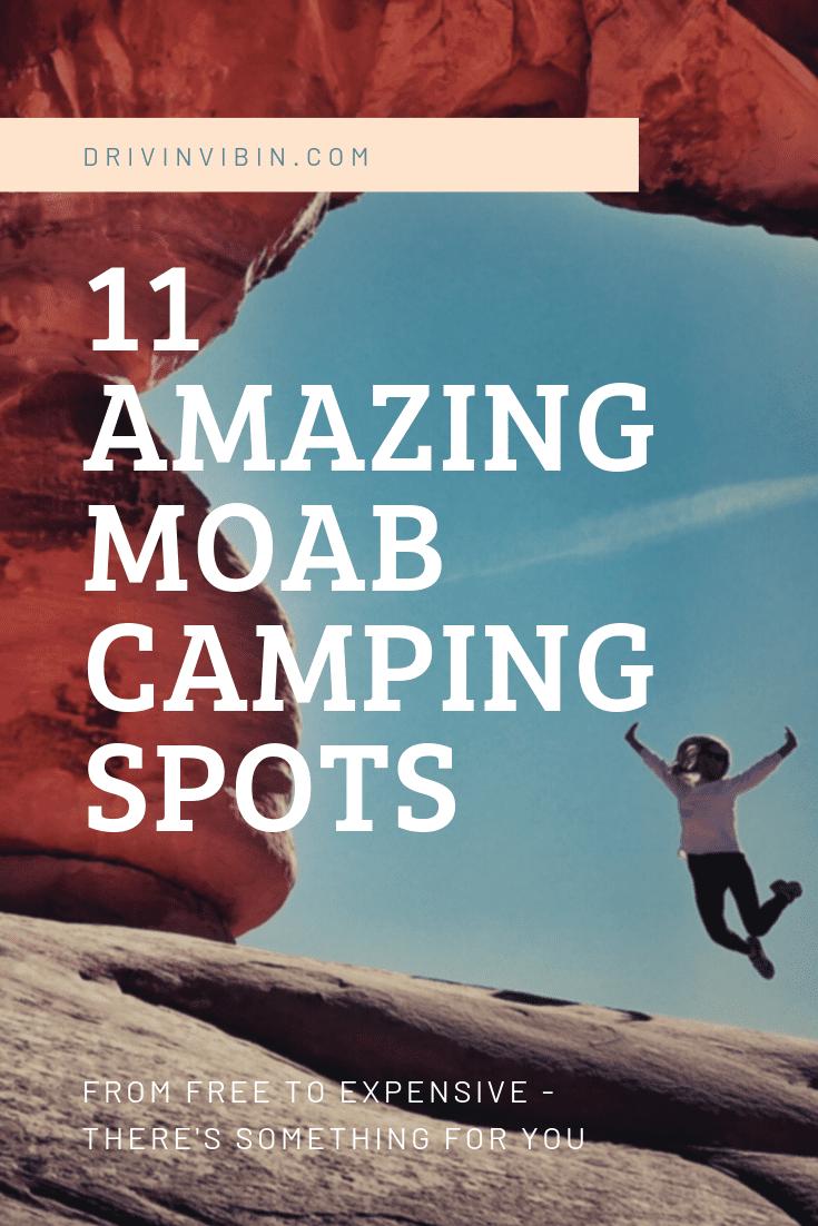 11 amazing Moab camping spots