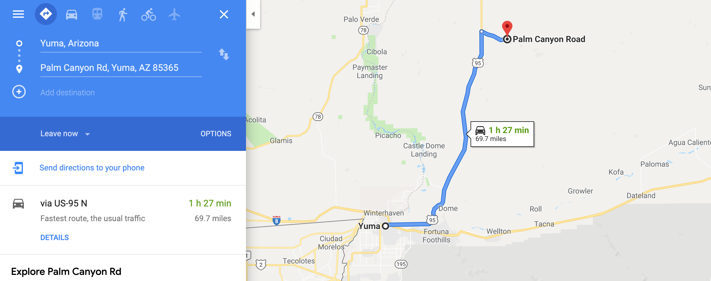 Directions to Camping Near Me