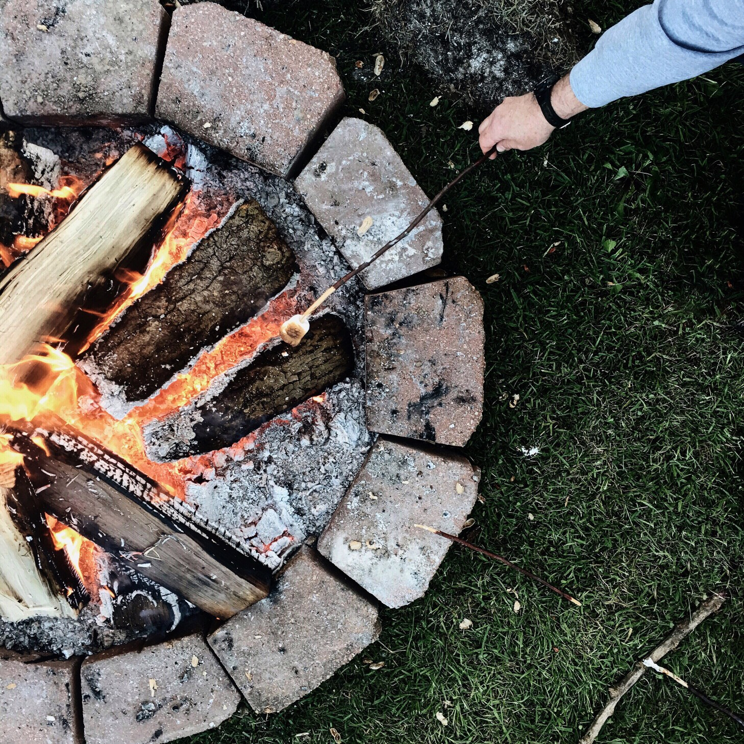 Campfire while RV Camping.jpg