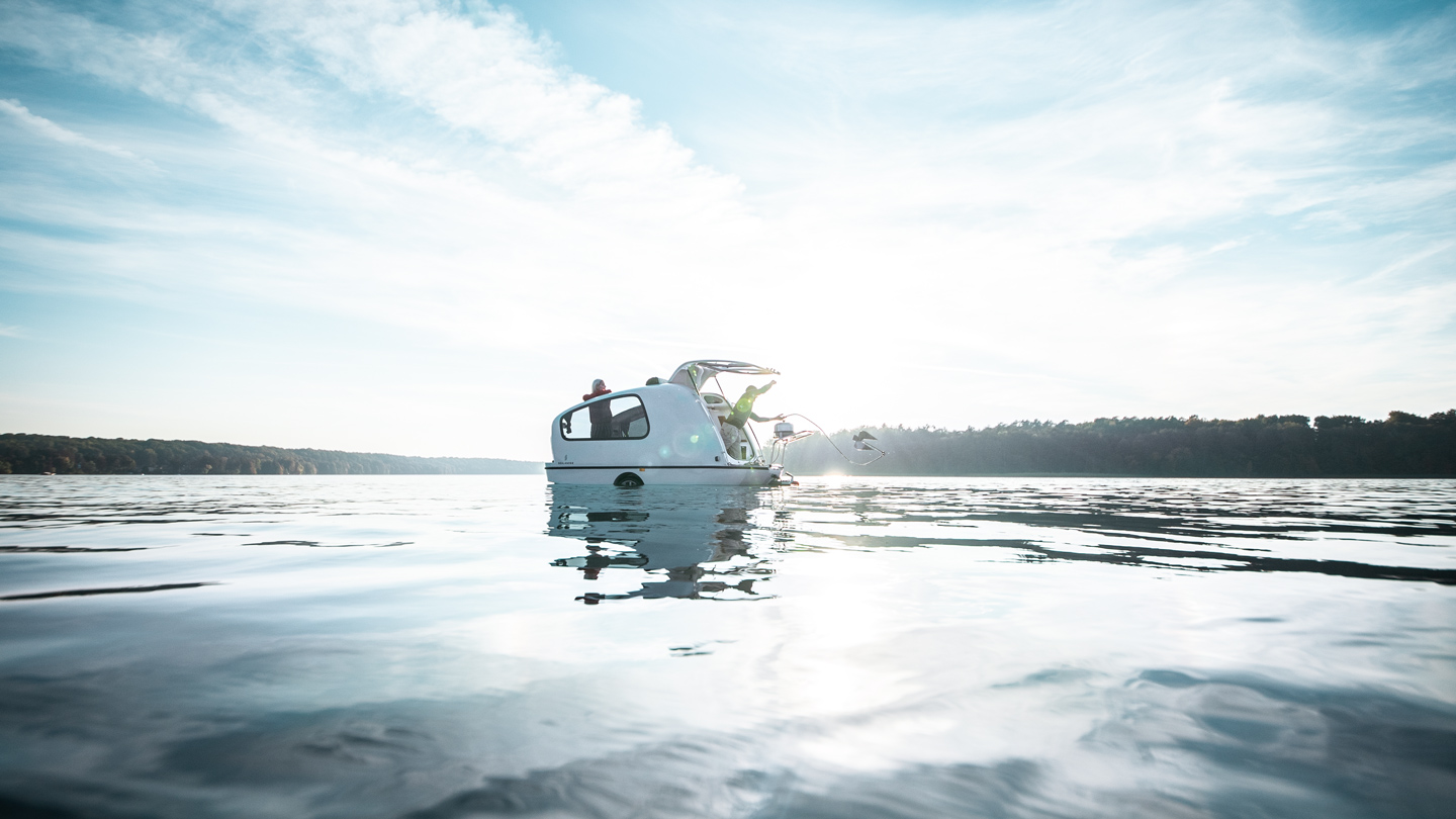 This Amphibious Camper Trailer Let's You Explore By Land & Water