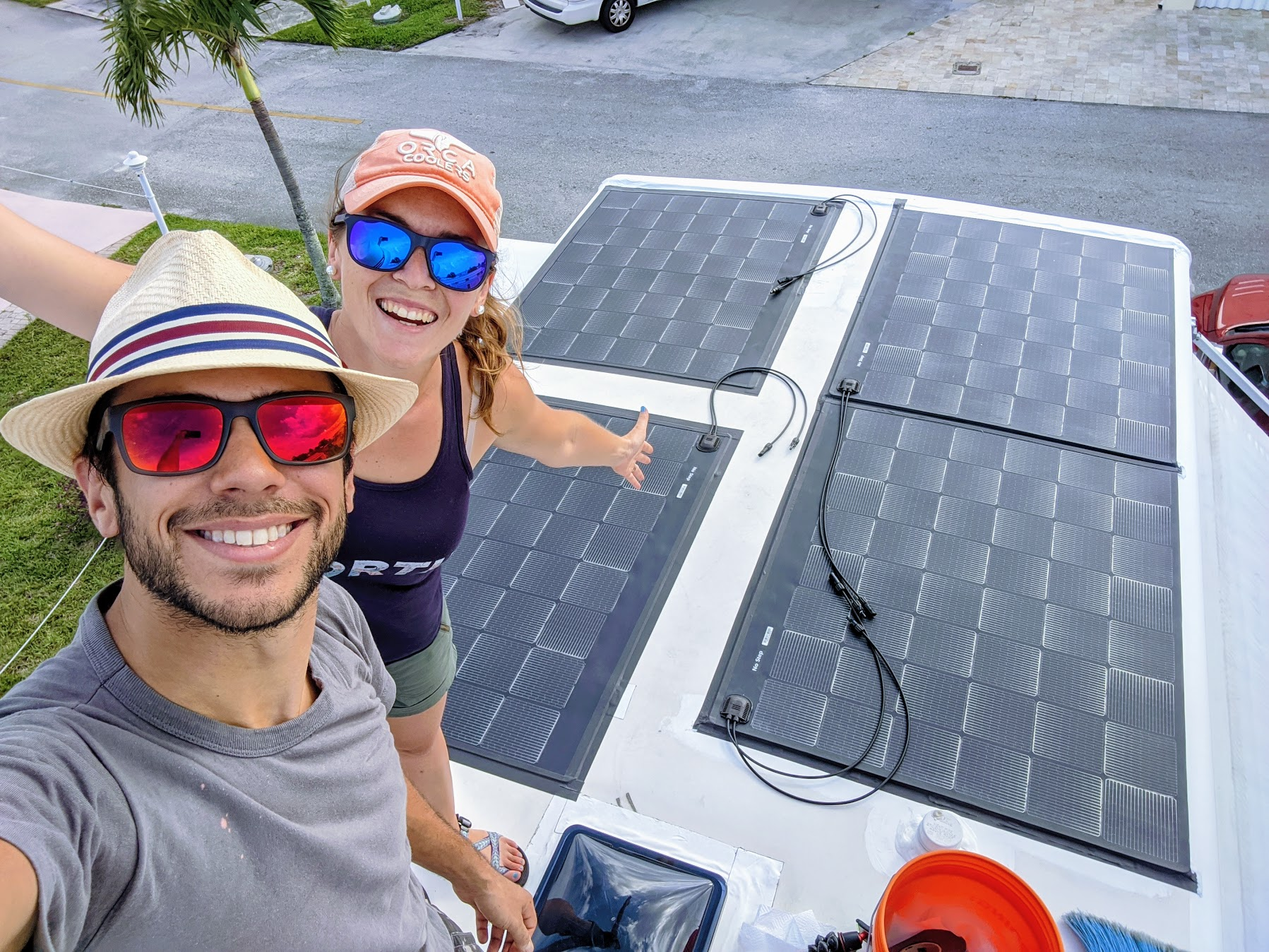 These RVers Charge Their Chevy with Solar Panels