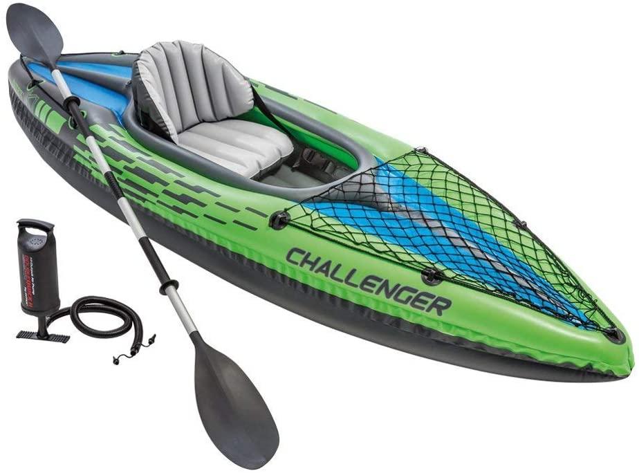 Intex Challenger kayak is made of heavy duty puncture-resistant vinyl.
