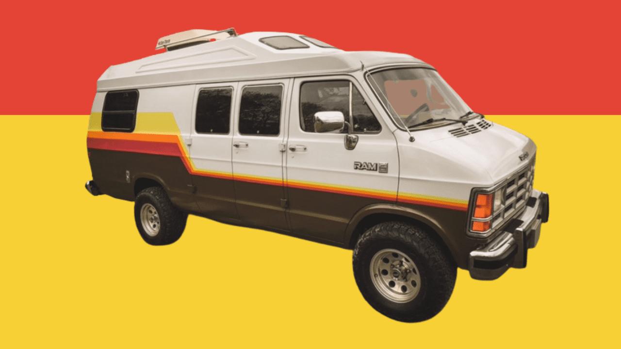 Couple Transforms 1987 Dodge Van into Luxury Camper