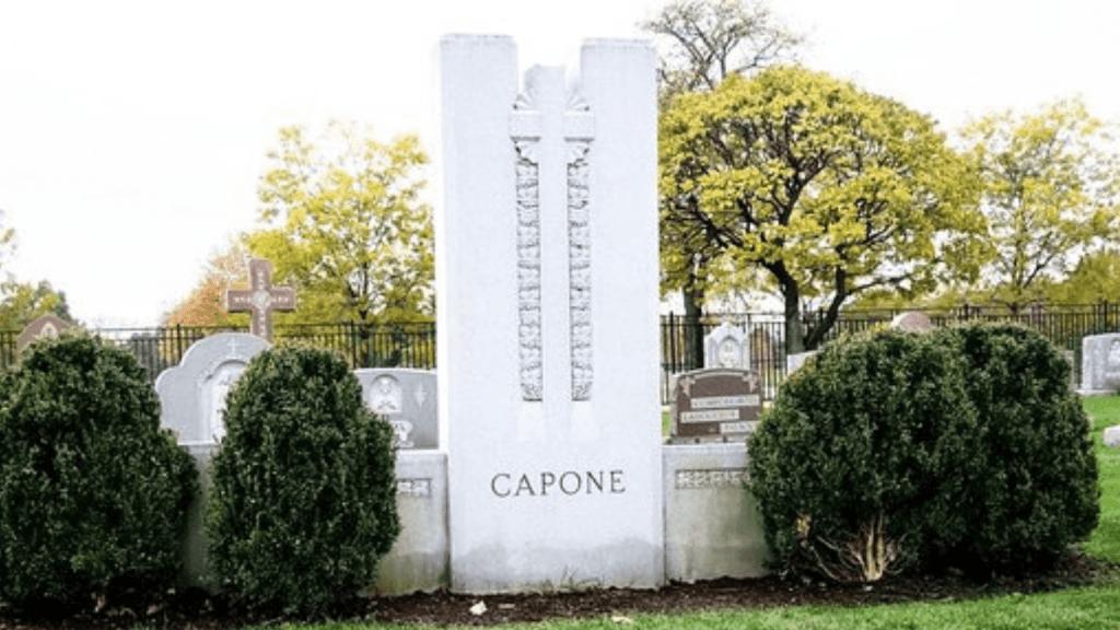 Al Capone's big grave site.